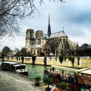 Notre dame and river